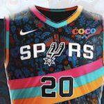 San Antonio spurs fiesta jersey with coco theme