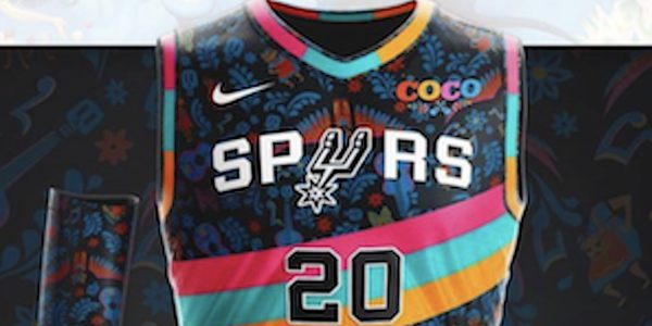 San Antonio spurs fiesta jersey with coco theme